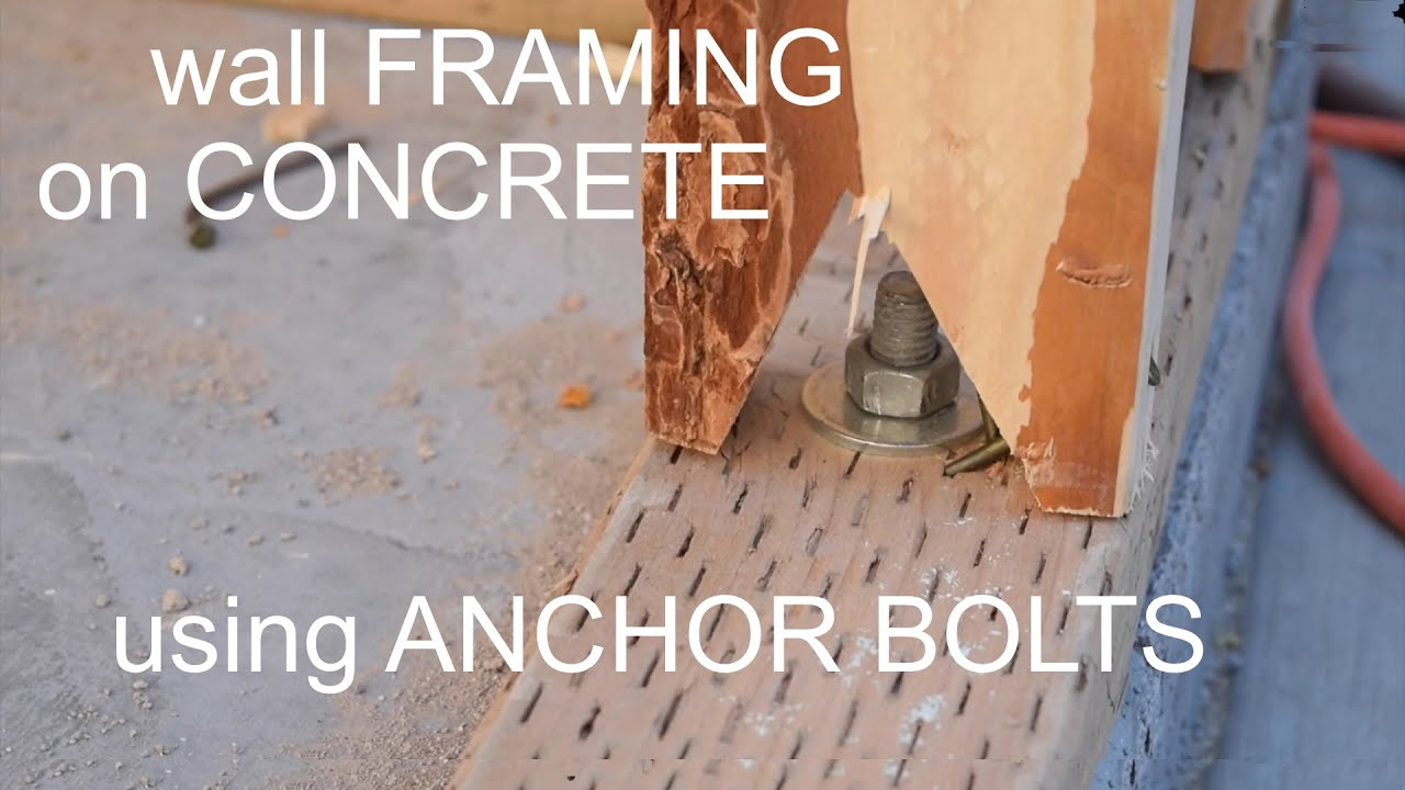 Concrete Slab With Anchor Bolts