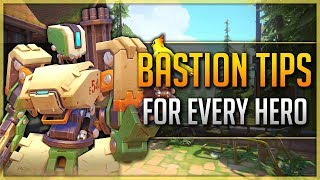 [Overwatch] - 1 BASTION TIP for EVERY HERO (Tips and Tricks)