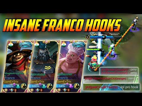INSANE FRANCO HOOKS #128 | GamEnTrix | MOBILE LEGENDS