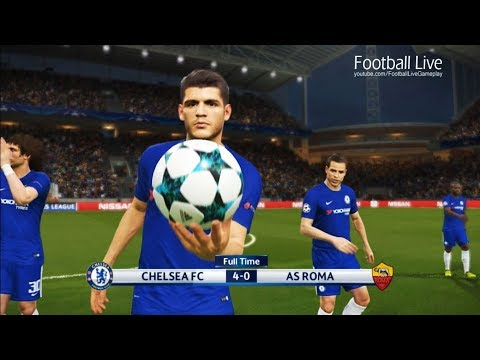 PES 2018 | CHELSEA FC vs AS ROMA | UEFA Champions League | Gameplay PC