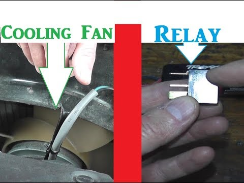 Acura TL Radiator Cooling Fan Motor and Relay Testing and Replacement