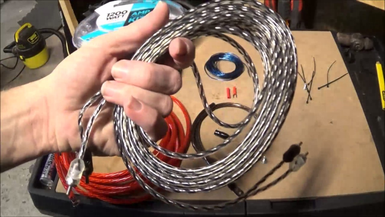small resolution of scosche 1200 watt amp wiring kit from wal mart review