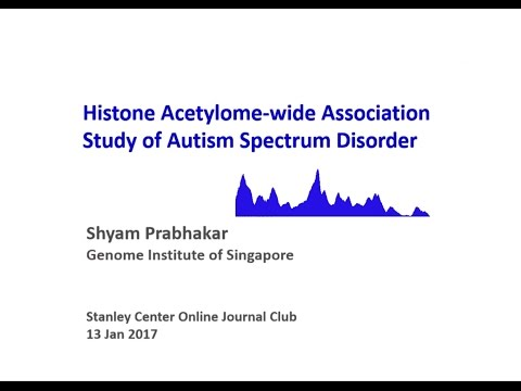 Histone Acetylome-wide Association Study of Autism