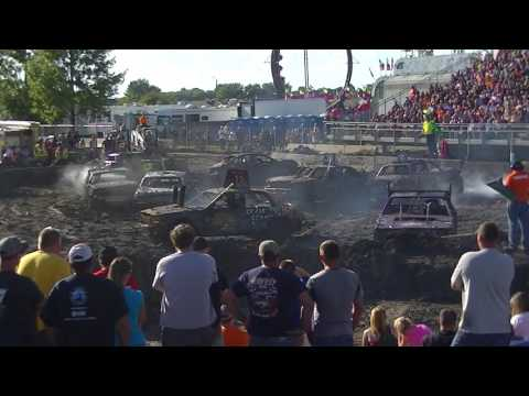 McLeod County Demolition Derby 2016 (Youth Chain Stock)