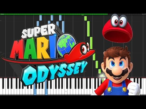 Super Mario Odyssey Theme [Piano Tutorial] (Synthesia) // Torby Brand