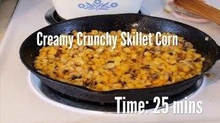 Creamy Crunchy Skillet Corn Recipe