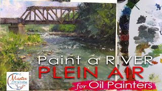 Plein Air Painting Indiana White River Fast Motion w/Voice Over Instruction