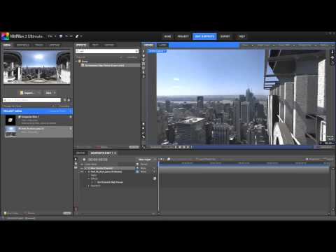 Using panoramic photos as an environment map in HitFilm 2 Ultimate
