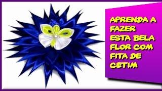 Aprenda a Fazer esta Bela Flor com Fitas de Cetim