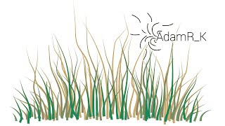 How To Draw Vector Grass Using Brush Tool