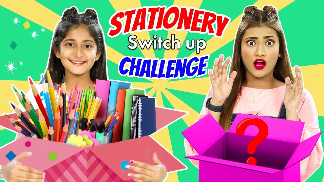 Mystery Box - Stationery SWITCH-UP Challenge ft. Samreen Ali | MyMissAnand