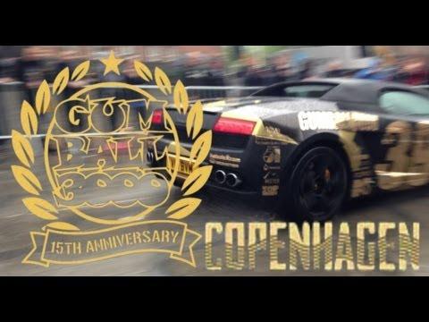 Start of the 2013 Gumball 3000 Supercar Rally COPENHAGEN