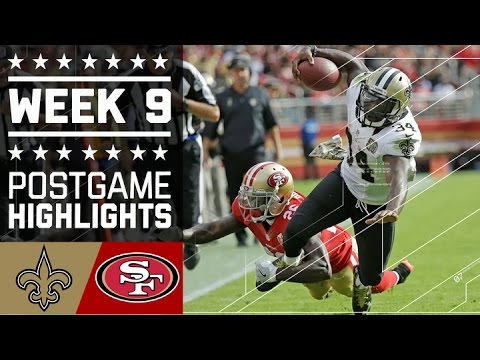 Saints vs. 49ers | NFL Week 9 Game Highlights