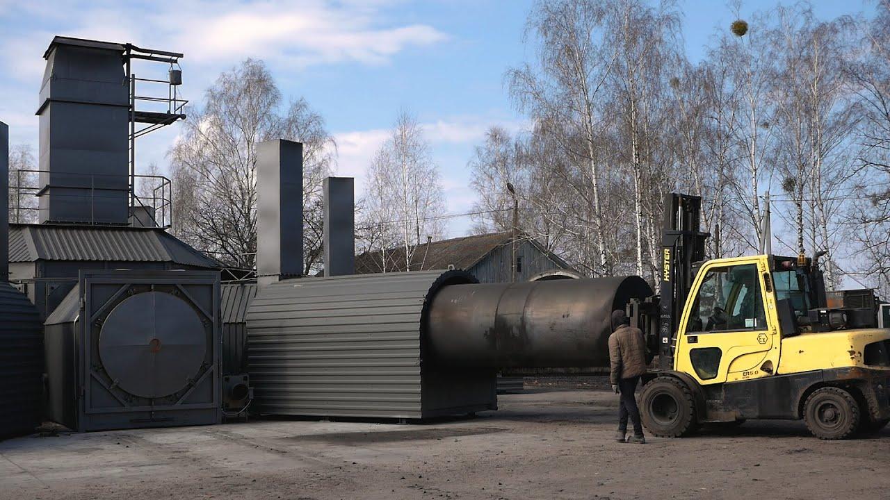 Углевыжигательная печь BOSA 6-120 FL. Монтаж и запуск