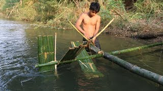 Primitive Technology: Bamboo Waterwheel
