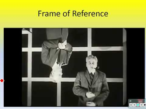 Frames of Reference and Relative Velocities.  (Physics Ch. 2