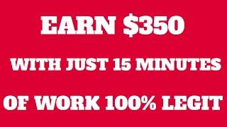 KUMITA NG $350 IN 15 MINUTES OF WORK [PAANO KUMITA SA ONLINE]
