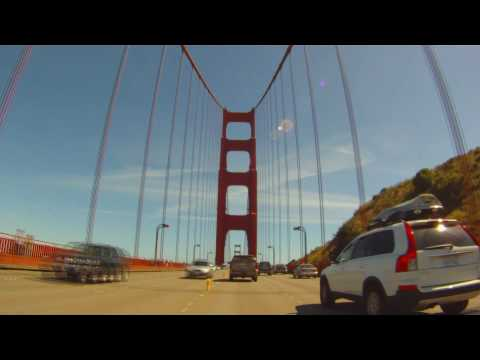 Golden Gate Bridge crossing, time lapse - GoPro HD