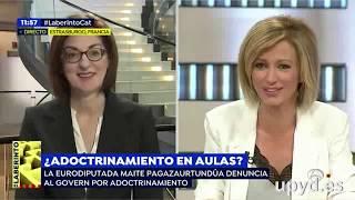 Maite Pagazaurtundúa (UPYD) destapa los casos de adoctrinamiento en las aulas catalanas