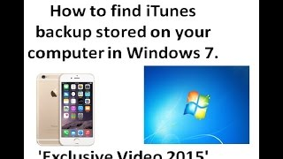 How to find iTunes backup stored on your computer in Windows 7. Exclusive Video 2015