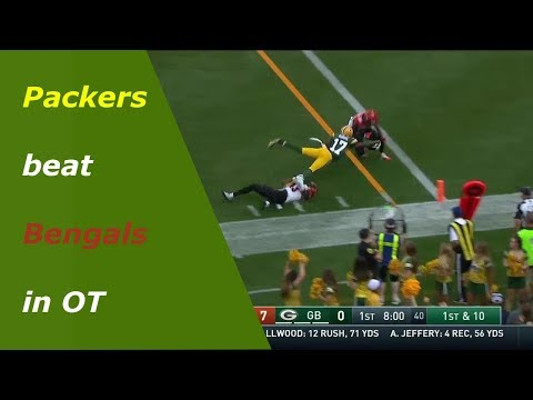 Green Bay Packers beat Cincinnati Bengals week 3 highlights 2017