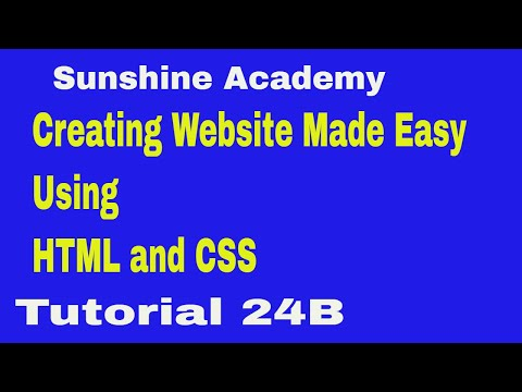 HOW TO CREATE BEAUTIFUL WEBSITES USING HTML AND CSS TUTORIAL 24 B thumbnail