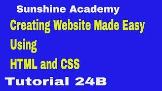 Erstellen Sie Website Mit HTML & Css-Tutorial 24 B