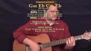 Download Reminder (The Weeknd) Guitar Lesson Chord Chart - Gm Eb Cm Eb MP3 song and Music Video