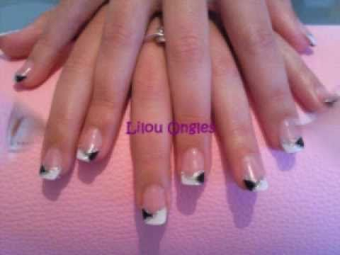 lilou ongles selection gel uv noir blanc youtube. Black Bedroom Furniture Sets. Home Design Ideas