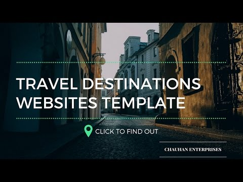 Free .com Domain Travel Agency website template sample, Responsive Designs By Chauhan Enterprises