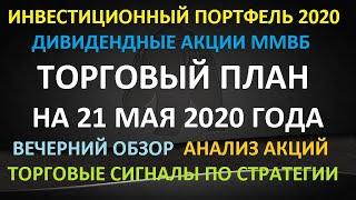 ТОРГОВЫЙ ПЛАН на 21 мая 2020 года - как инвестировать в акции. Пошаговая стратегия. Анализ акций.