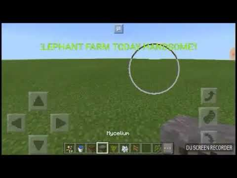How To Make Elephant Farm In Mcpe With Addons