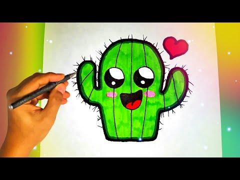 Как нарисовать милый КАКТУС? Лёгкие рисунки для начинающих Рисунки для срисовки