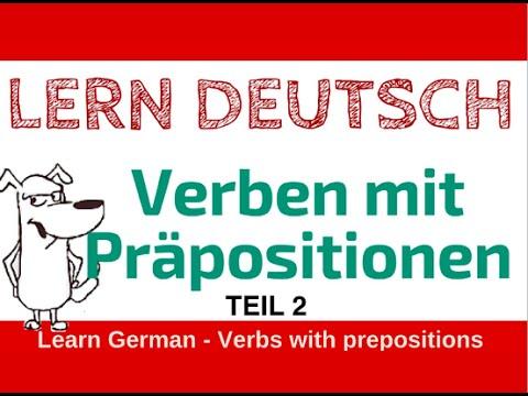 learn german verben mit pr positionen teil 2 nach mit youtube. Black Bedroom Furniture Sets. Home Design Ideas