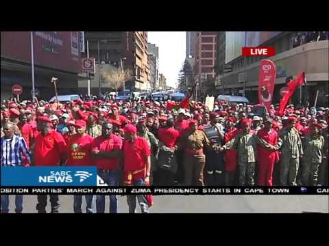 EFF march to the Union Buildings #NoConfidence