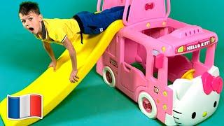 Cinq Enfants Les roues sur le bus | Chansons pour enfants | Five Kids
