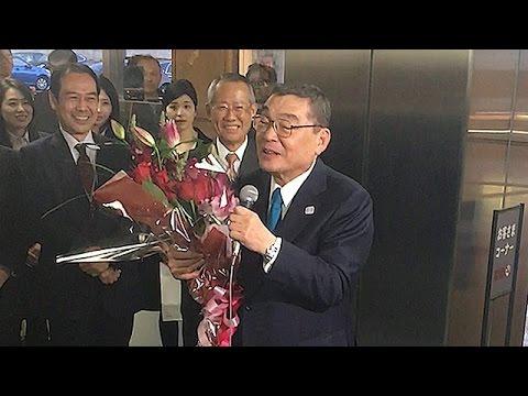 籾井氏、有働アナに「写真撮ってよ」 NHK会長を退任