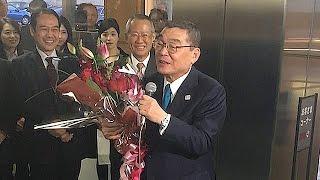 NHKの籾井勝人会長(73)が1月24日、任期満了で退任した。同日夕、東京・...