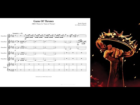 Game Of Thrones (Flute Quintet + Piano) [Sheet Music]