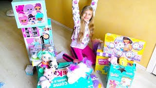 What my CAT FOUND in the forest? 😱Unicorn and many toys ! Furry DIY ideas