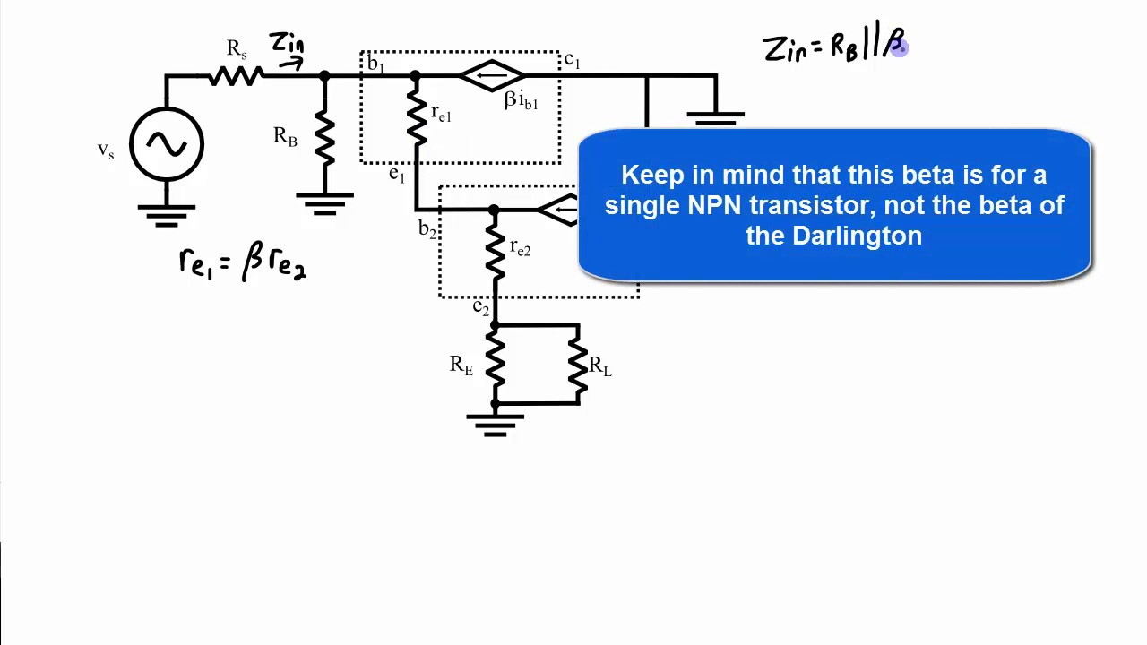 Darlington Transistor In Emitter Follower Circuit Youtube Uses Power Transistors Pair Of 5 X