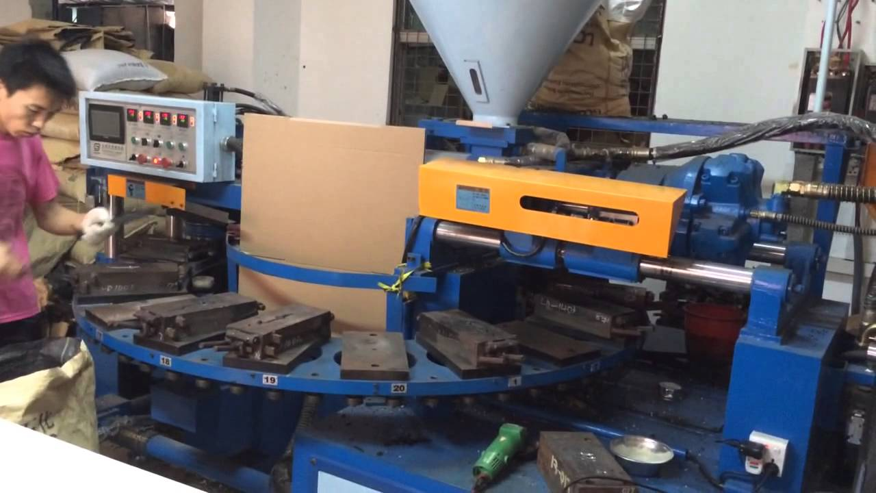 rotary injection moulding machine