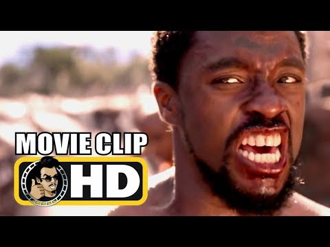 BLACK PANTHER (2018) Movie Clip - T'Challa Vs. M'Baku Fight HD