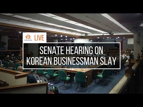 LIVE: Senate hearing on Korean businessman slay
