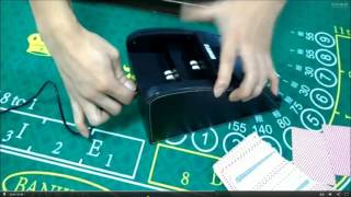 Doublue use card shuffler and dealer shoe