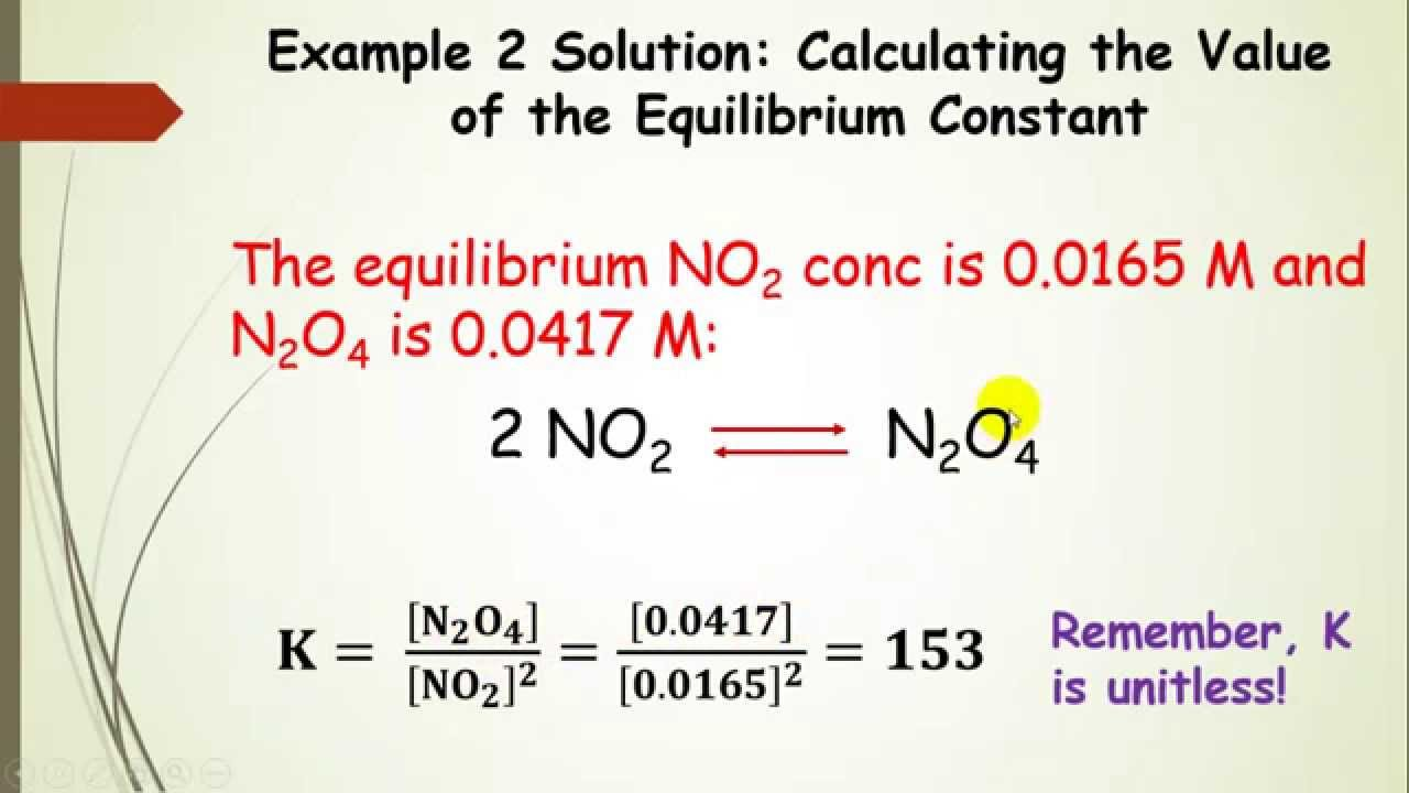 The Law Of Mass Action And The Equilibrium Constant Part 3 Youtube