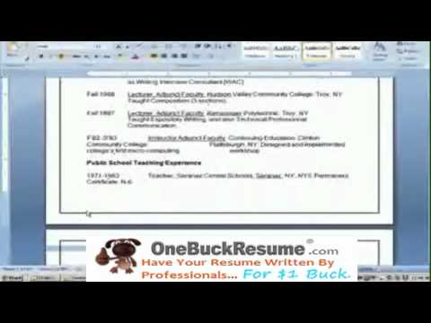 Need Help Writing a Resume? Watch This.