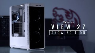 Thermaltake View 27 Snow Edition Gull-Wing Window ATX Chassis