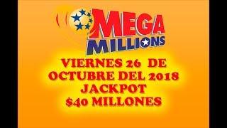 Gambar cover Resultados Mega Millions 26 Octubre 2018 $40 Millones de dolares Powerball en Español