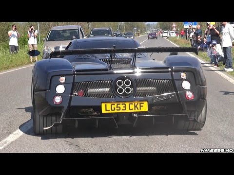 Supercars Leaving Cars & Coffee Italy - MC12, Zonda, 675LT, Carrera GT & More!